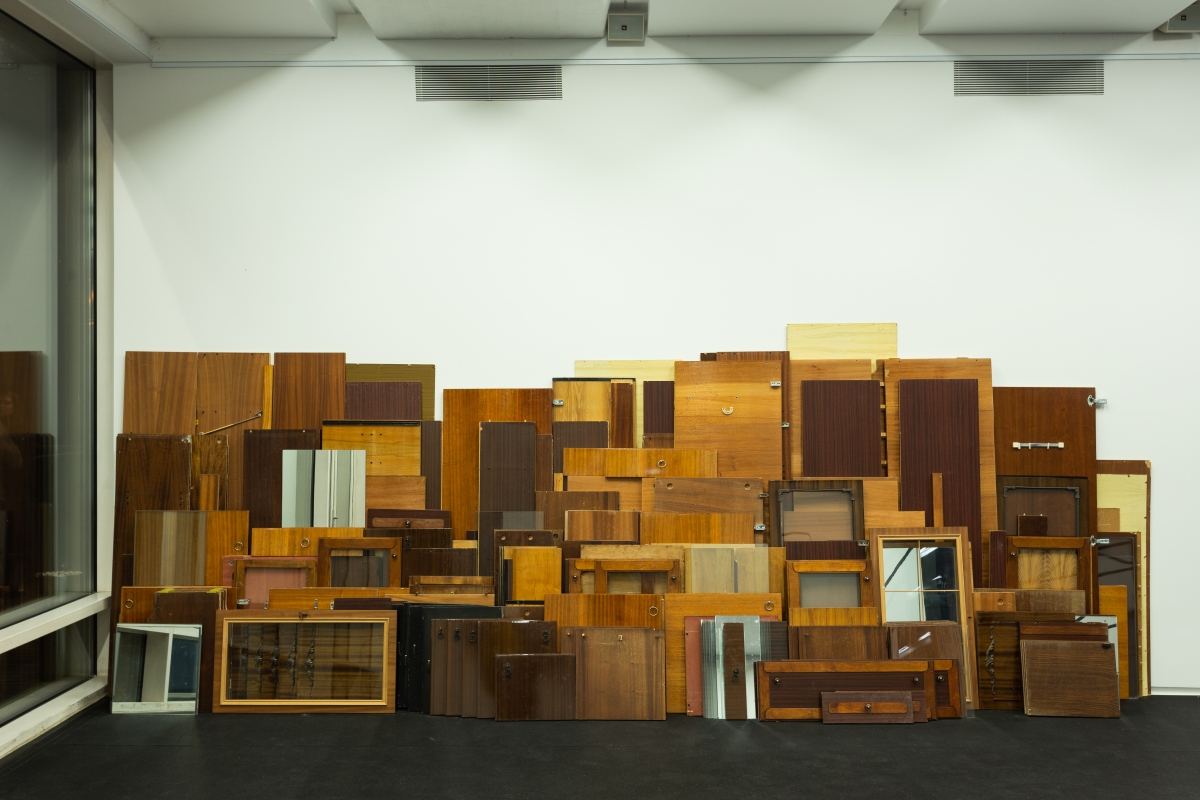 Vytautas Stakutis (1990, LT), Wall Unit, 2018, Mixed-media installation, variable dimensions. Project made with Julija Matulytė