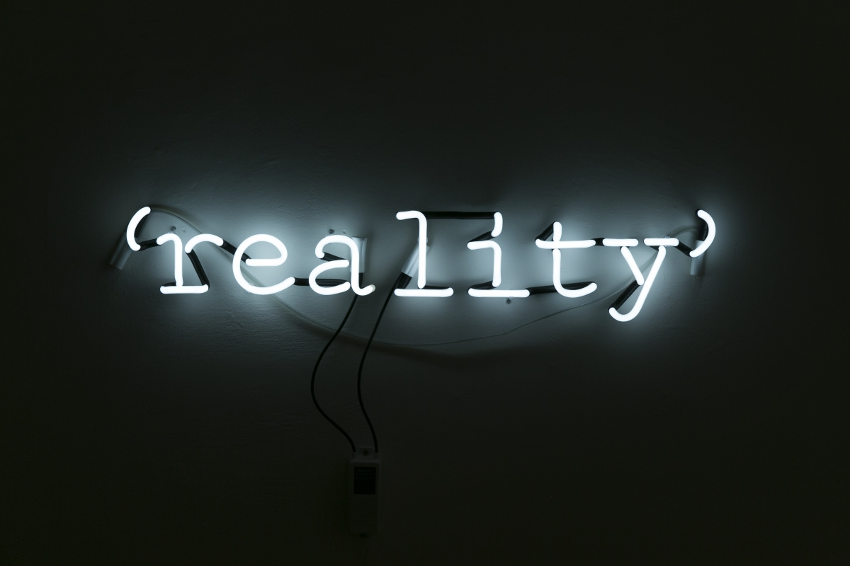 Jurgis Tarabilda 'reality'. 2018, neon, 19x95