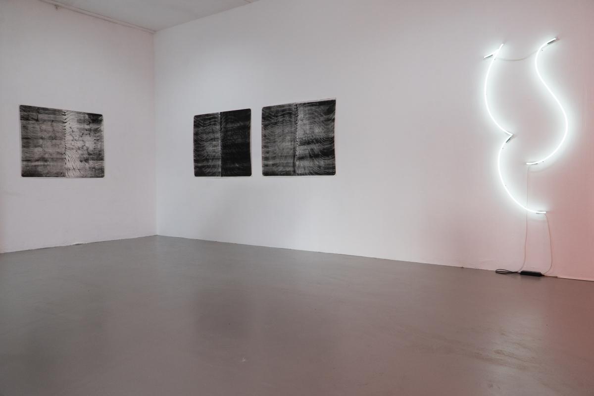 From left to right: Laura Kaminskaitė, Nameless, 2018; Laura Kaminskaitė, Not Yet Titled, 2018.