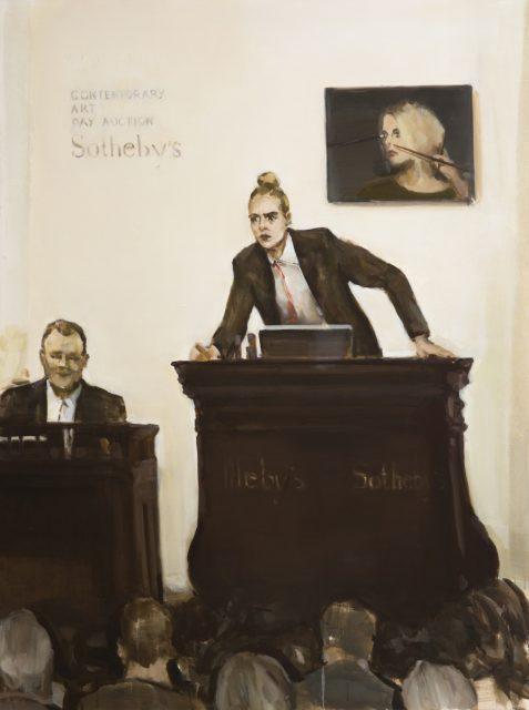 E. Karpaviciute, Selling myself, oil on canvas, 160x120, 2017. Mo Muziejaus kolekcija