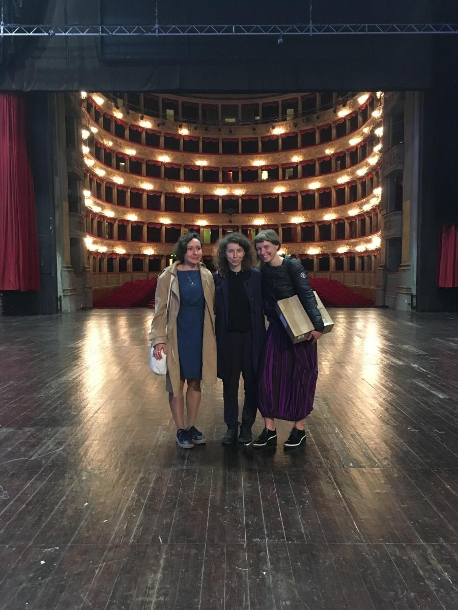 Vaiva Grainytė, Rugilė Bardziukaitė and Lina Lapelytė. Photo from personal archyve.
