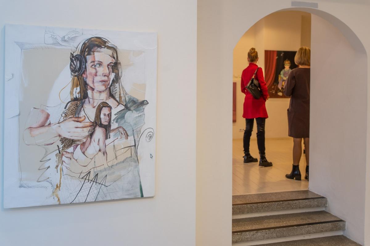 Monika Furmana. Lady with an Ermine. 2017, oil on canvas, 100x85