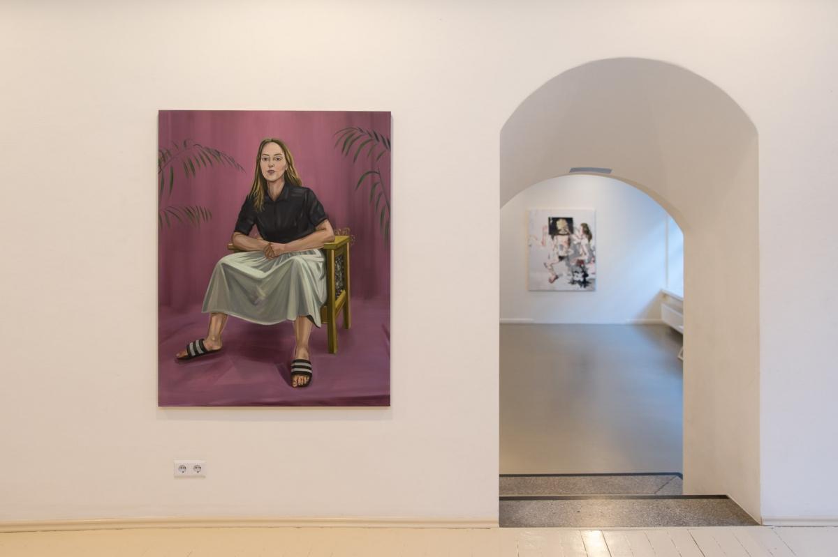 Monika Plentauskaite, The Female Painter (Self-portrait). 2018, oil on canvas 140x110