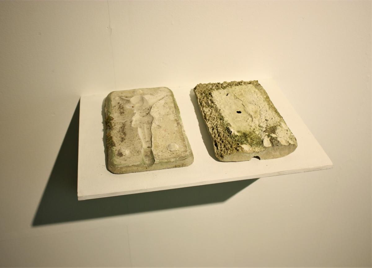 """Laura Zaveckaitė (LT / JAV) """"In Between"""" installation view, M. Žilinskas art gallery."""