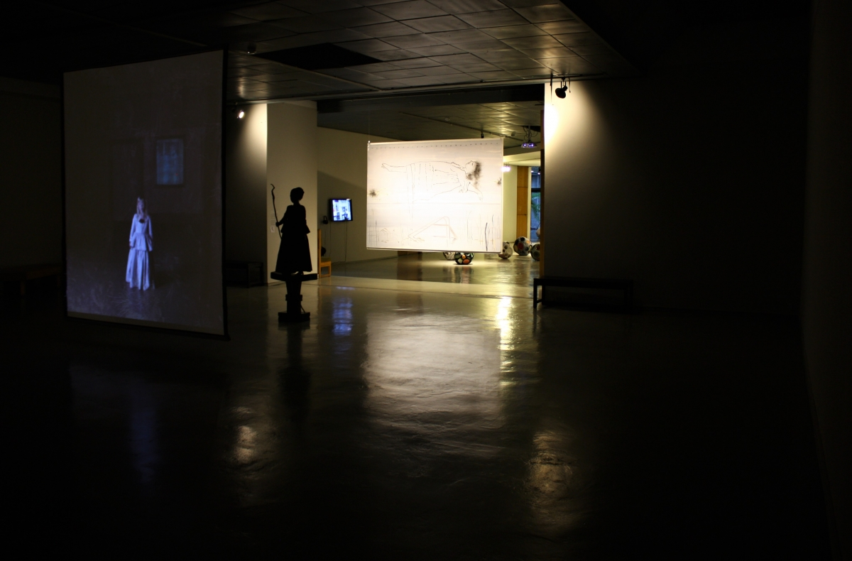 "Christine Dixie (PAR) ""To be King"" installation view, M. Žilinskas art gallery."