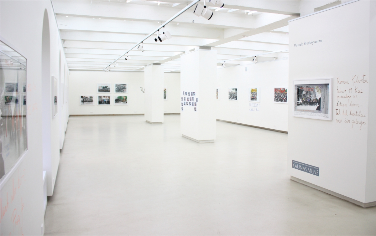 "Marcelo Brodsky (AR / ES) ""1968: The Fire of Ideas"" exposition view, Kaunas photography gallery."