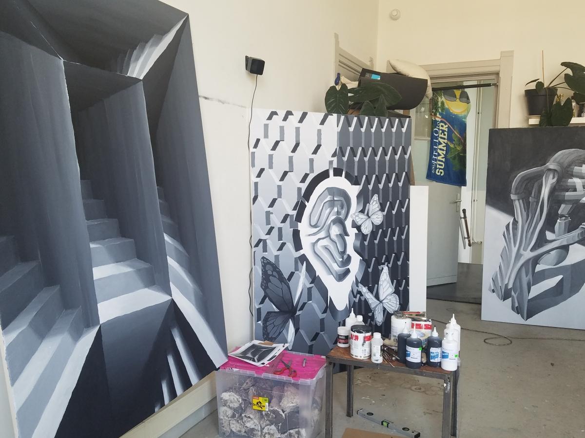 Studio at Piet Zwart Institute, Rotterdam.