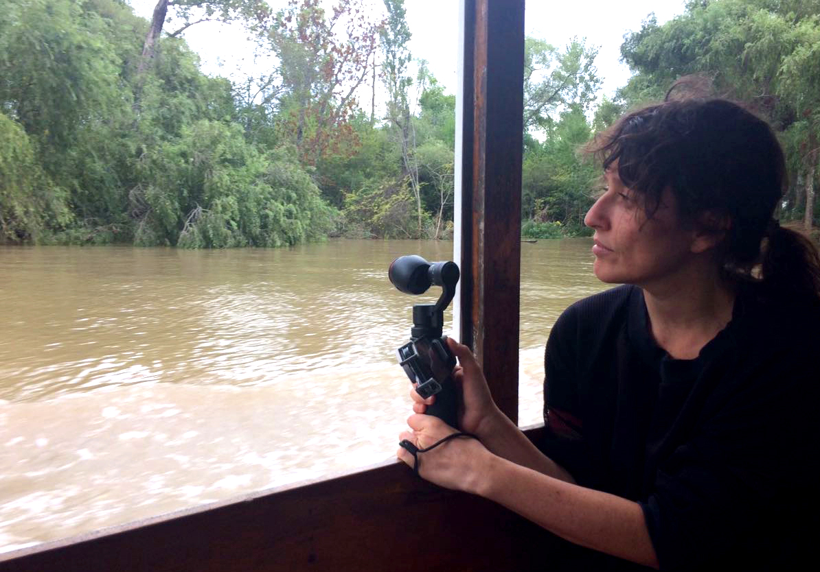 The artist during filming at Delta del Paraná, Argentina
