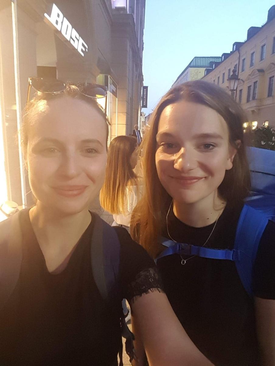 Viktorija and Ona in a curatorial trip, 2018, photo: Viktorija Damerell.