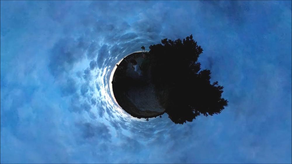 Opening sunset ritual / participatory performance by Obelija, 360 video documentation. Photo: Andrej Vasilenko