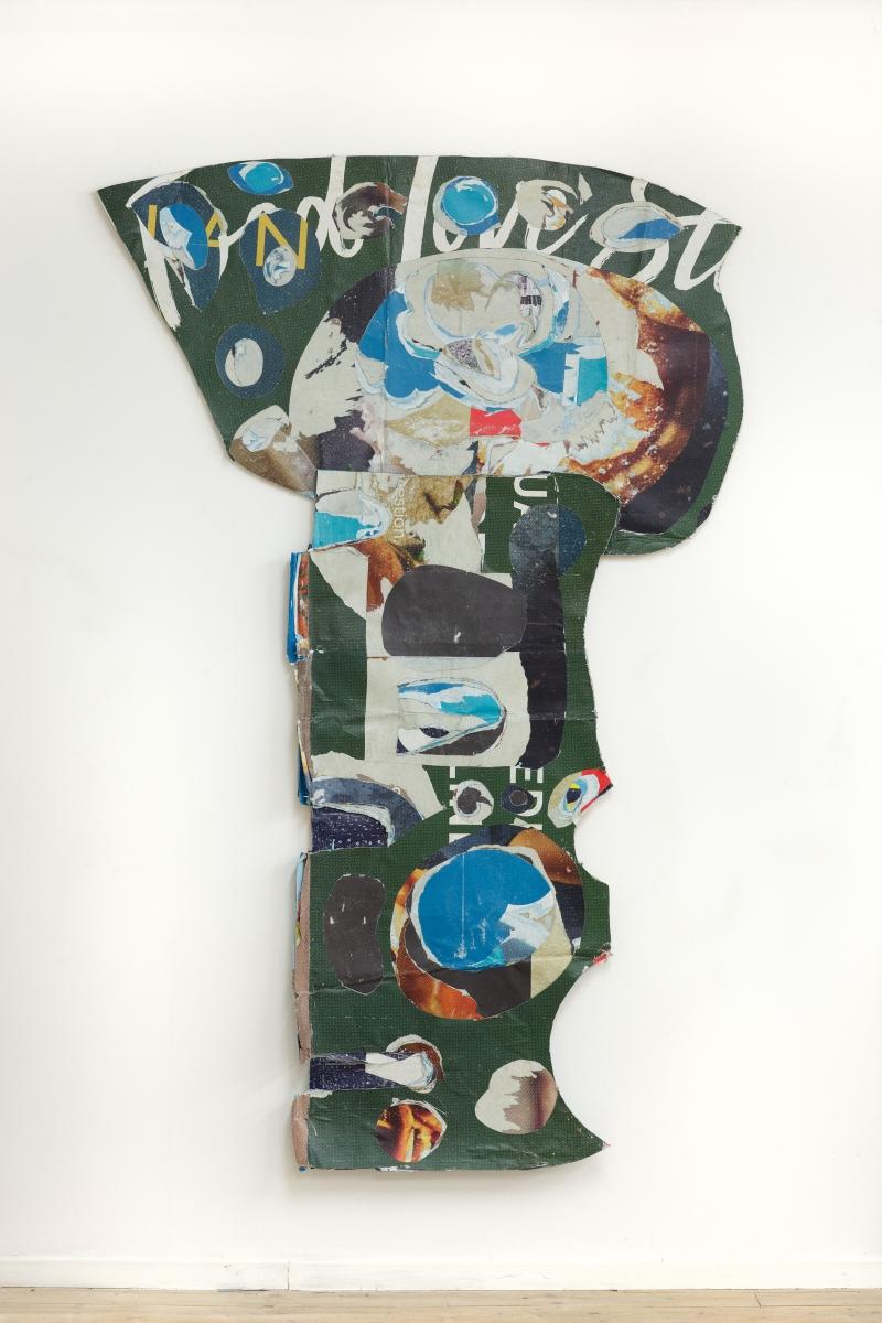 Robertas Narkus, Grail, 193x124cm, paper, glue 2019