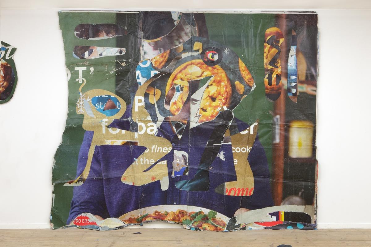 Robertas Narkus, Master, 243x300cm, paper, glue 2019