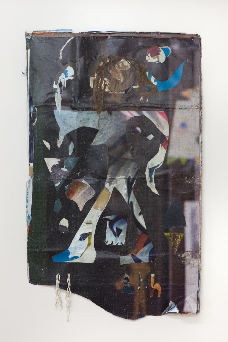 Robertas Narkus, Warrior, 2019, 171x104, paper, rope, algae