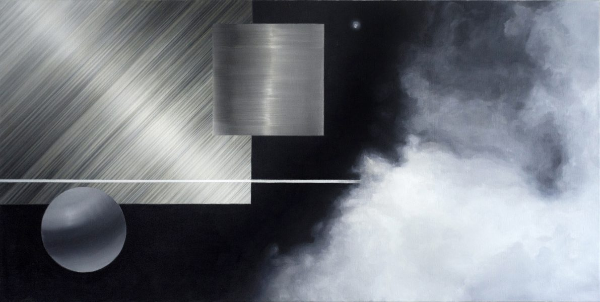"Holger Loodus. ""Steam"", 2019. Oil, canvas, 90x180cm. Photo: Holger Loodus."