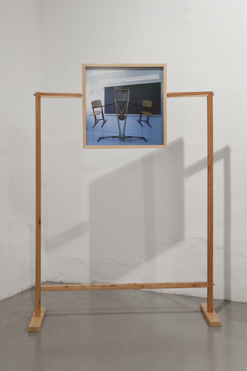 """Sigrid Viir, """"Achievement counter no: RXP-1186-C8"""" from the series """"Routinecrusher, Wanderlust, Tablebear, and so on"""", pigment print, wood construction, 2011. Photo: Anu Vahtra"""