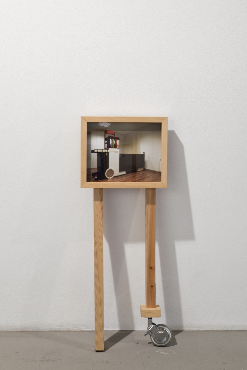 """Sigrid Viir, """"Compromise no: RXP-1209-18"""" from the series """"Routinecrusher, Wanderlust, Tablebear, and so on"""", pigment print, wood construction, 2009. Photo: Anu Vahtra"""