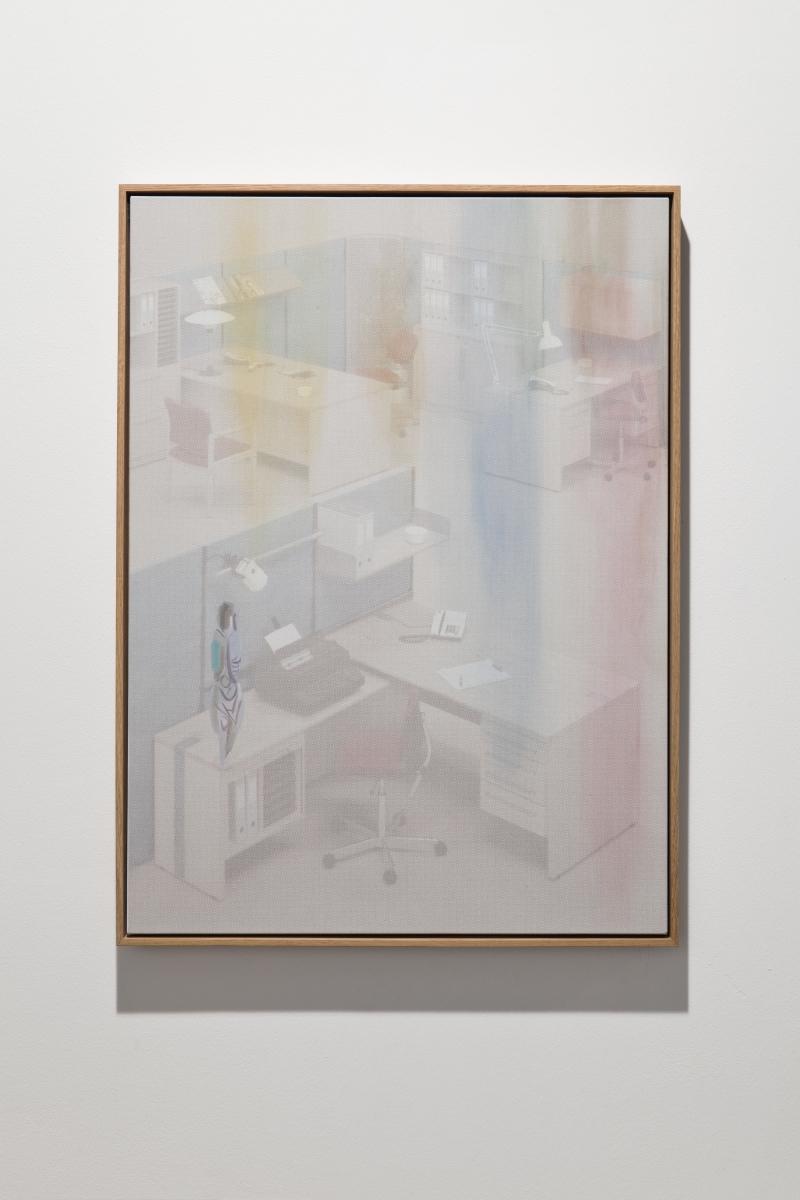 "Inga Meldere, ""Correlation"", UV-print, acrylic and oil on canvas, 2018. Photo: Anu Vahtra"