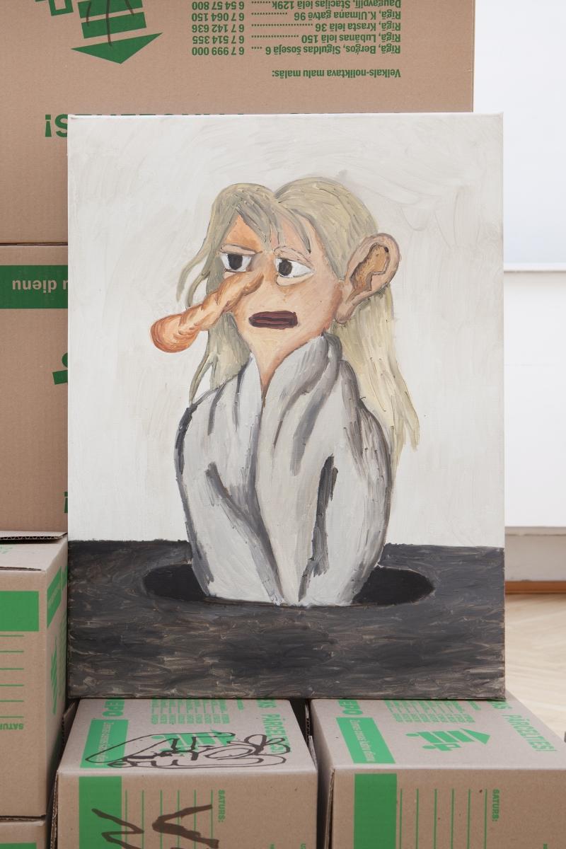 White Rabbit, 50x70cm, oil on canvas, 2019
